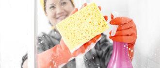 чистка стен моющими средствами