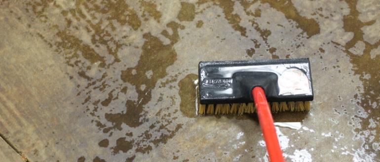 снятие краски с бетона