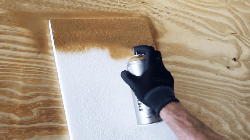 Красить пенопласт аэрозольной краской