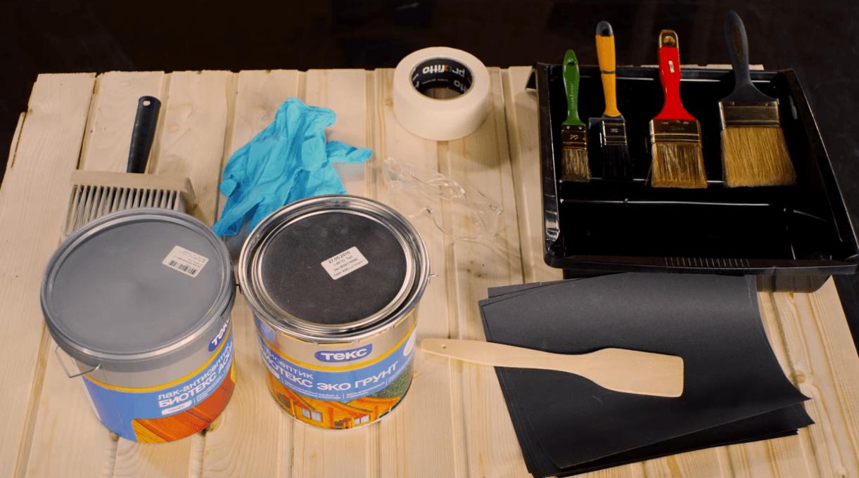 Что необходимо для покраски деревянных стен