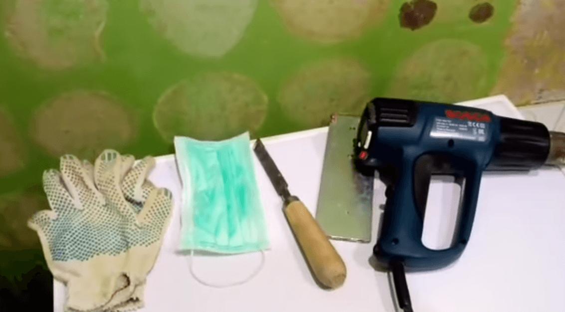Интсрументы для снятия масляной краски