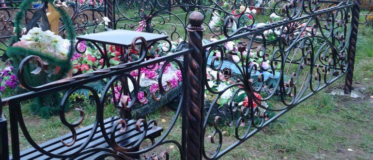 Чем покрасить ограду на кладбище