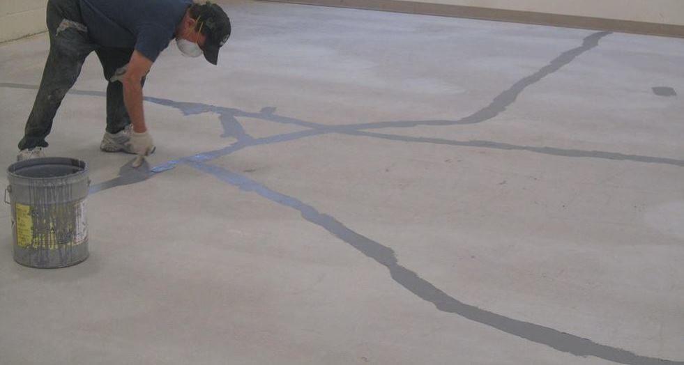 Заделка трещин бетонного пола