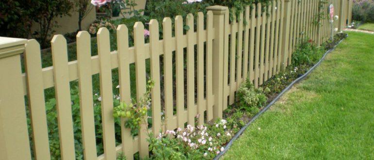 чем красить забор