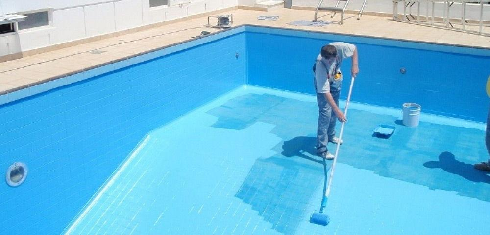 красим эластичной краской бассейн