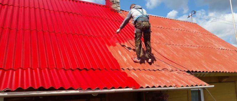 чем покрасить шиферную крышу