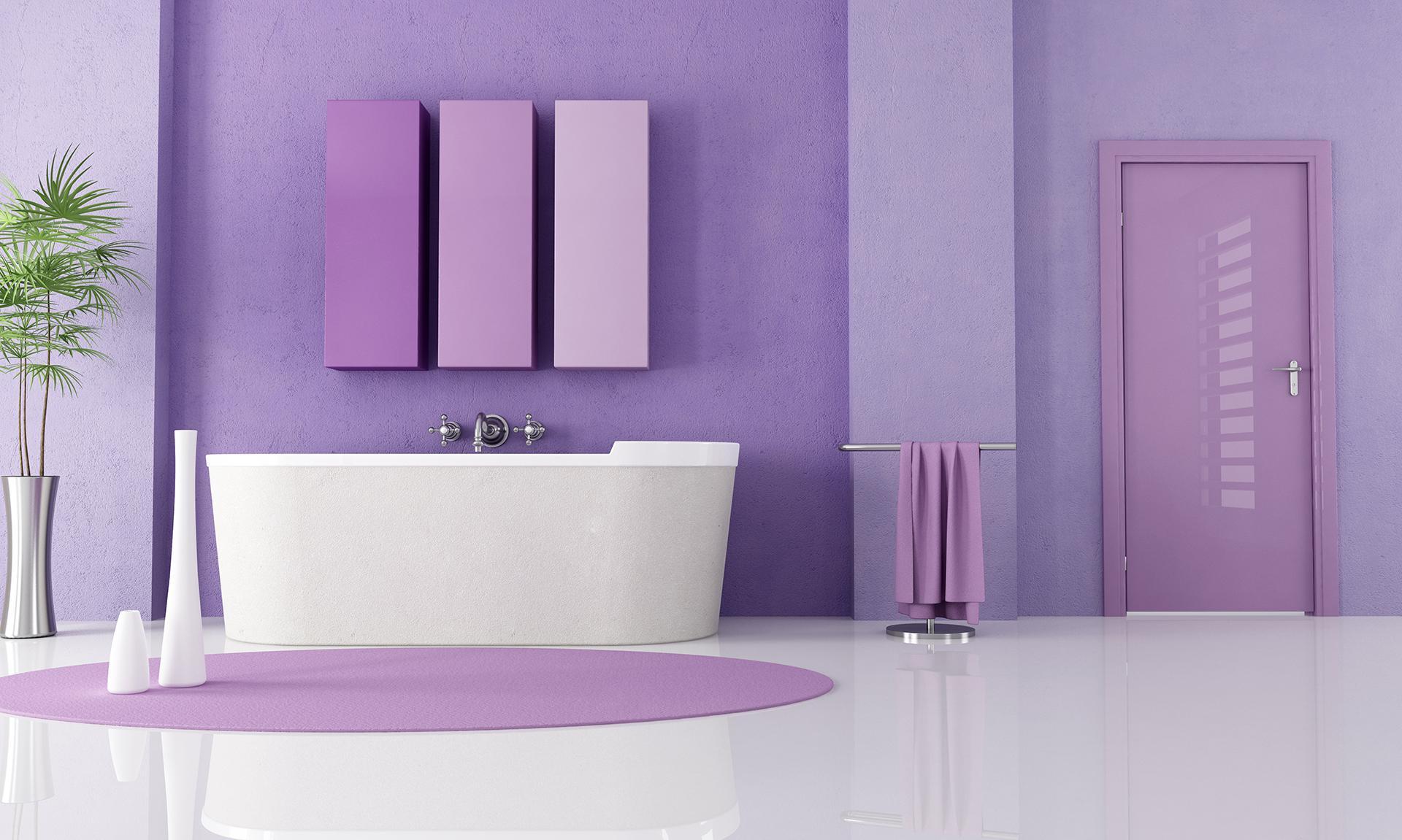 Ванная комната в фиолетовом стиле