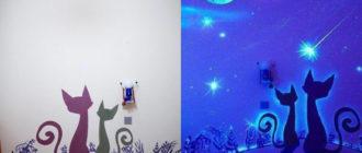 Люминесцентная краска в интерьере