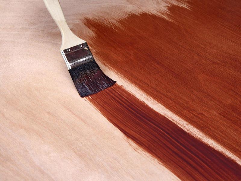 Покраска деревянных конструкций