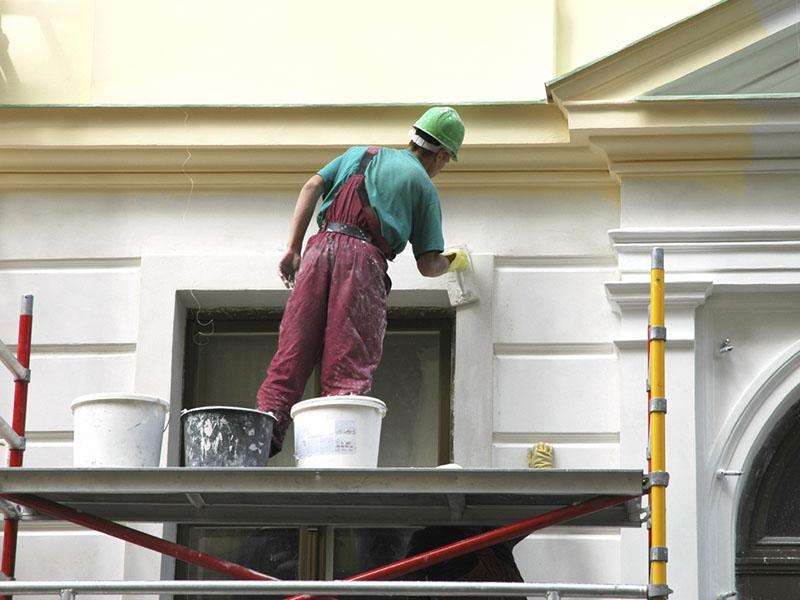 Покраска фасада здания