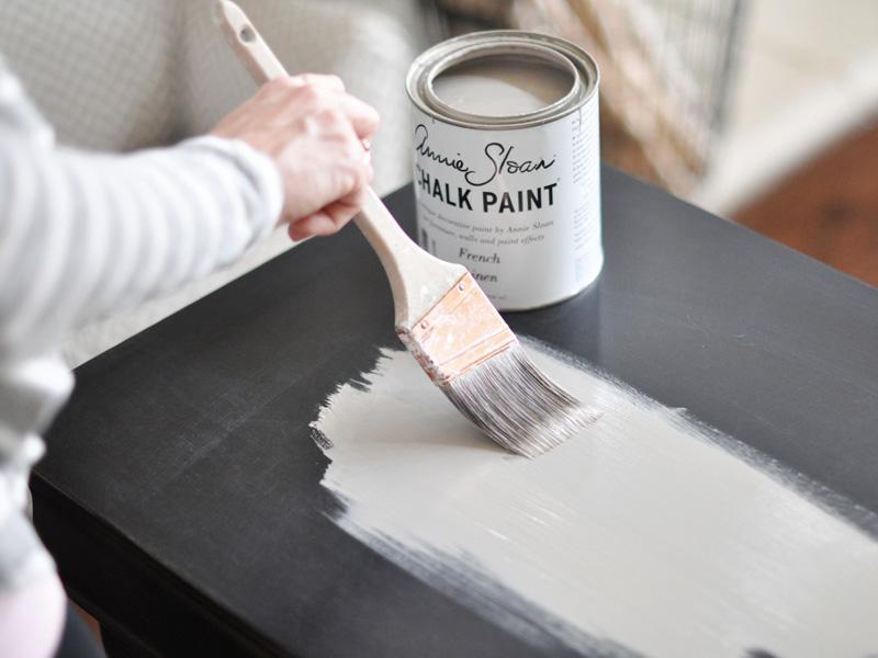Покраска меловой краской