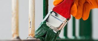 Покраска металлоконструкций кисточкой