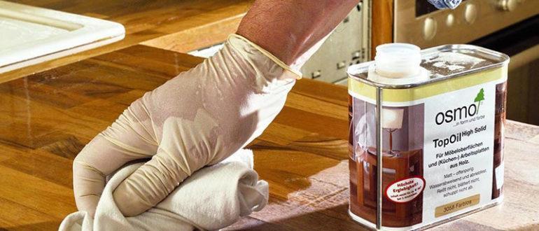Покрытие древесины маслом