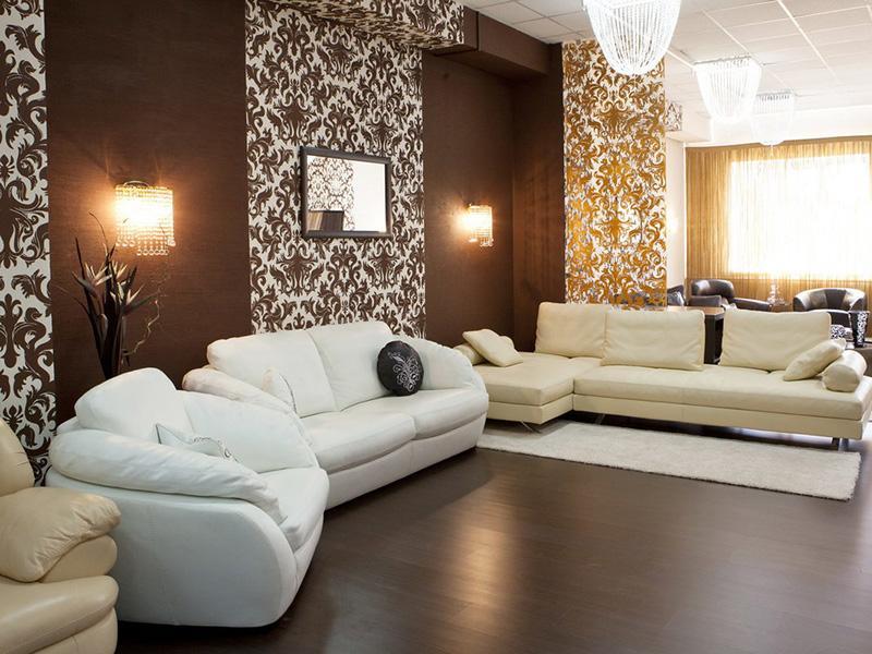 Интерьер стен в гостиной