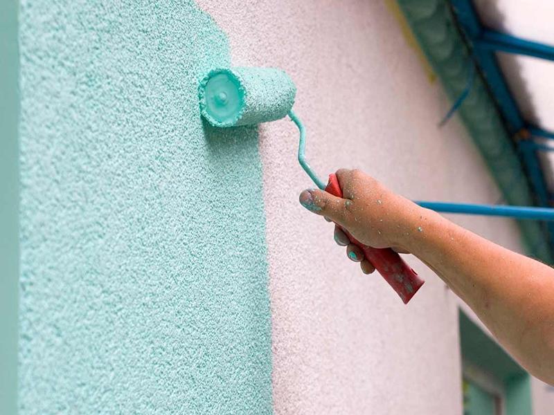 Покраска фасада краской