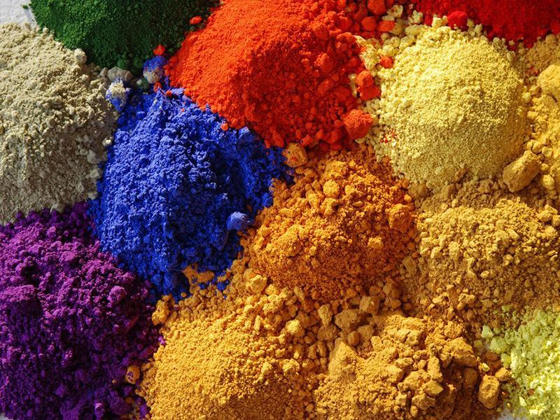 Природные пигменты для красок
