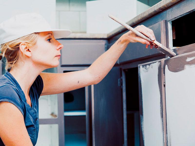 Покраска кухонных фасадов