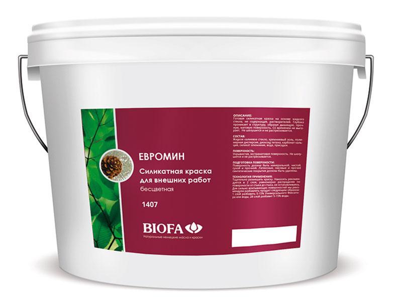 Краскасиликатнаядля внешних работЕвромин Biofa