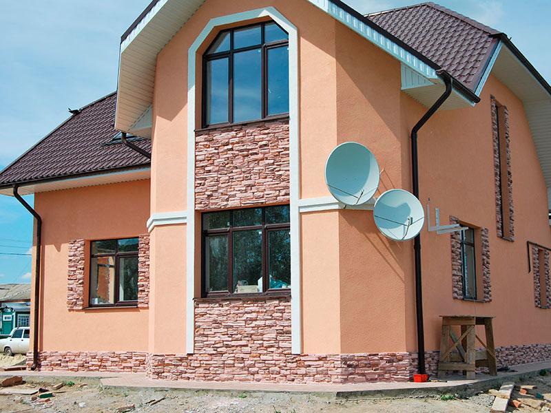 Покраска оштукатуренного фасада